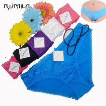 women cotton lace many color size sexy underwear/ladies panties/lingerie/bikini underwear pants/ thong/g-string 6480 1pcs(China)