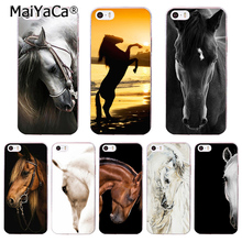 MaiYaCa Horse Animal Printed Soft Cover For iPhone 6 6S Plus 7 7 Plus 5 5S 4 4S Silicone Rubber Skin Mobile Phone Case