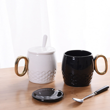 1set Three-dimensional Coffee Cup Creative Ceramic Milk Mug Household Products Leisure Afternoon Tea Drinking Cup 7ZDZ116(China)