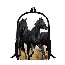 Dispalang Brand 3D Animal Horses Backpack For Teenager Boys School Bags Mens Travel Rucksack Children Shoulder Book Bag Mochila