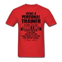 Custom Short Sleeve Boyfriend's Being A Personal Trainer Tees Shirt Men Boy Printing XXXL Party Tshirt