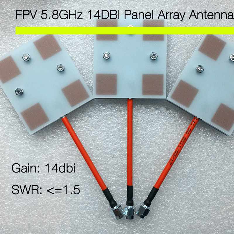 FPV 5.8GHz 14DBI Panel Array Antenna for RC Airplanes AV Receiver antenna Multicopter<br><br>Aliexpress