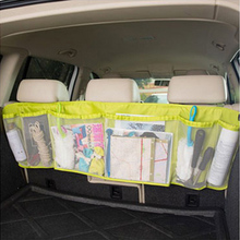 GREEN CAR REAR SEAT BACK ORGANIZER HOLDER STORAGE BAG HANGER CARGO NET TRUCK MESH TRAVEL POCKET Accessories