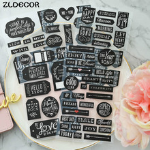 A New Day Black Chipboard Stickers for DIY scrapbooking Stamping Planner/photo album Decorative Craft(China)