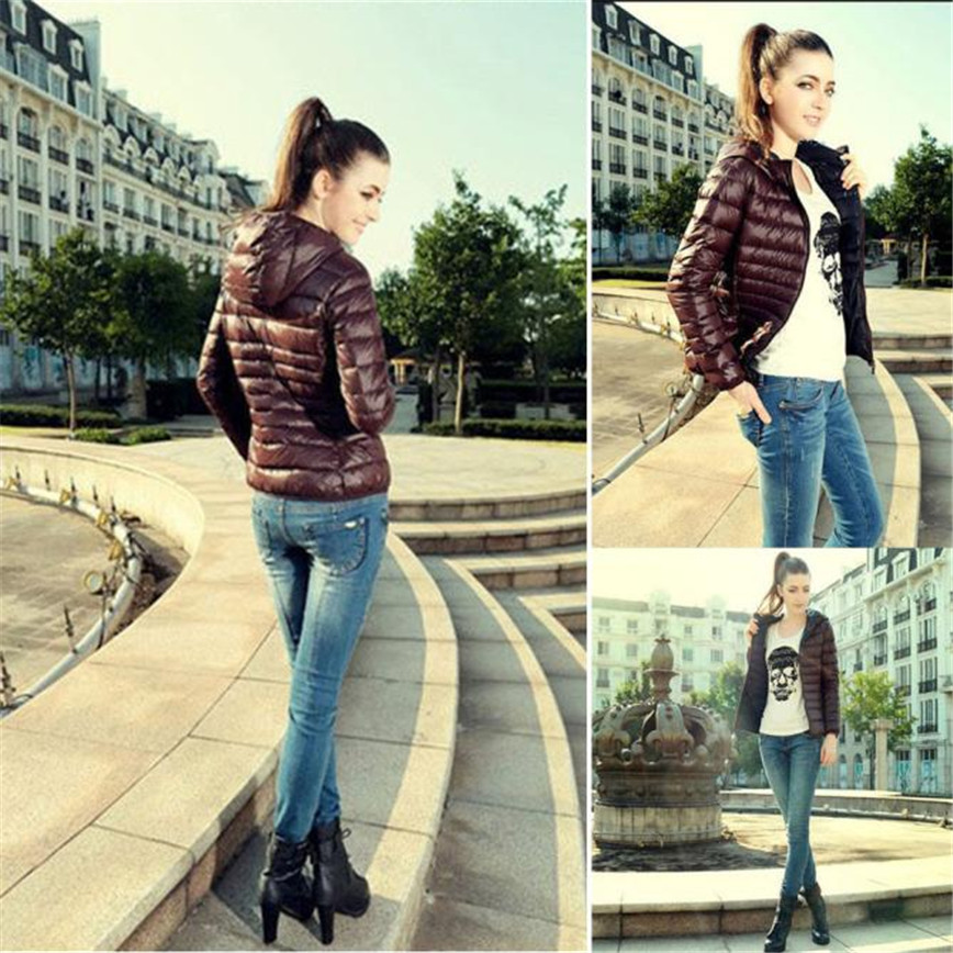 Shocking Show 1PC Women Winter Warm Candy Color Thin Slim Down Coat Jacket OvercoatОдежда и ак�е��уары<br><br><br>Aliexpress