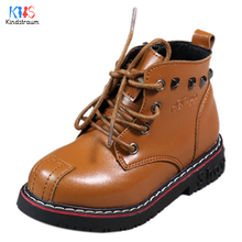 Toddler Leather Boots Kids 2017 New Design Children Rivet Martin Boots Rubber Bottom Shoes Girls Boys Motorcycle Boots ,EJ183