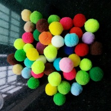 Approx 15mm Pompoms Soft High-elastic Polyester Pom Poms Balls Multi Colors Plush Balls For DIY Accessories 500pcs(China)