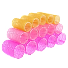 15pcs/lot Hairdressing Home Use DIY Magic Large Self-Adhesive Hair Rollers Styling Roller Roll Curler Beauty Tool 3 Size(China)