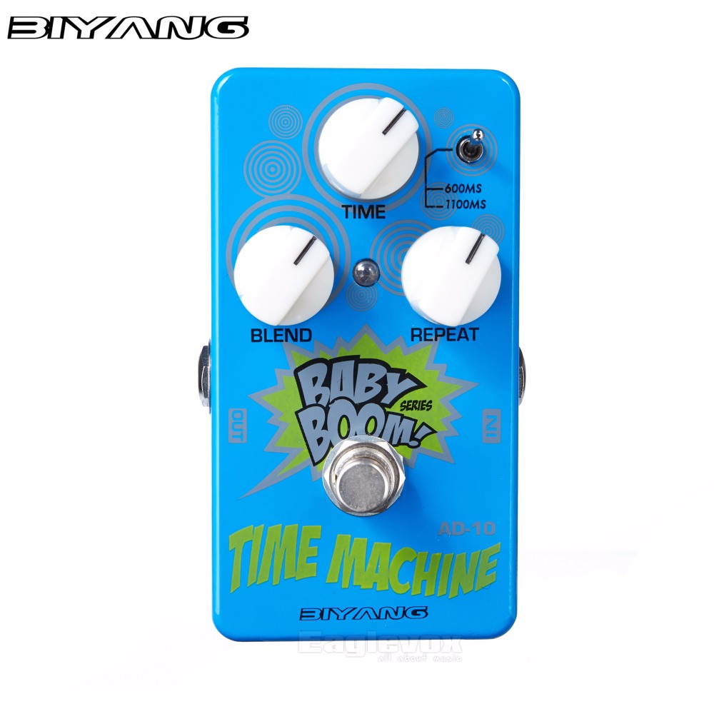 Biyang Time Machine Delay Guitar Effect Pedal with Complex Delay Patterns Effects Stompbox for Electric Guitar Baby Boom AD-10<br>