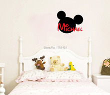 PERSONALIZED Mickey Mouse Name wall decals vinyl stickers home decor living room decoration wallpaper murals