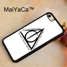 MaiYaCa Harry Potter Deathly Hallows Phone Cases For iPhone 5 5s SE Protective Hard Plastic Phone Case Soft Rubber Back Cover(China)