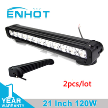 ENHOT 2pcs 21'' 120W CREE CHIP OFF ROAD LED LIGHT BAR 20 INCH CAR LED BAR COMBO BEAM FOR OFFROAD MARINE BOAT CAMPING 4x4 ATV UTV