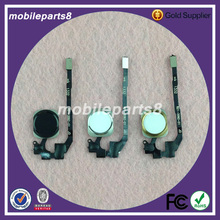20pcs/lot Free Shipping Home Button Flex Cable Assembly for iPhone 5S home button flex complete black or white or gold