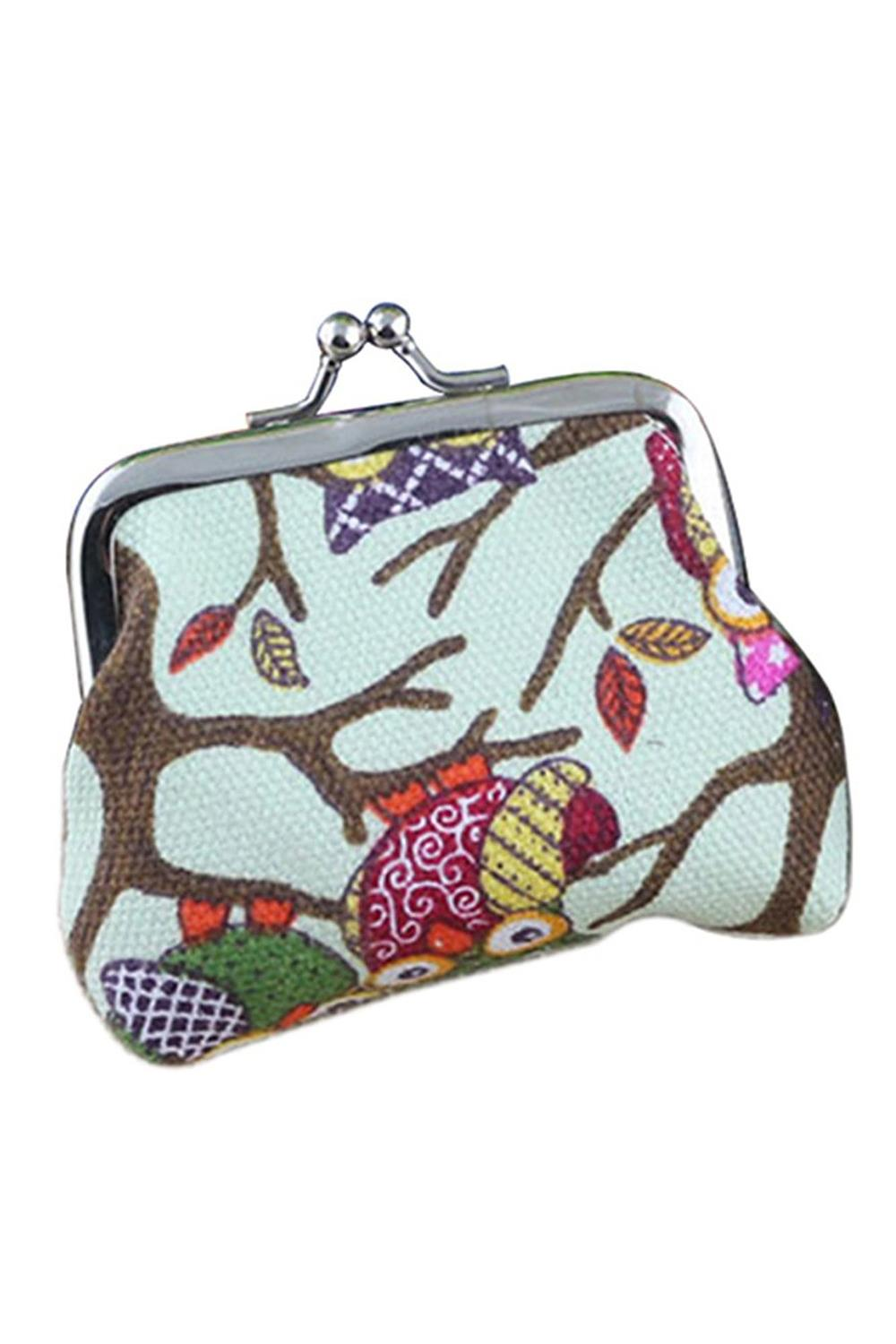 6 colors Women Hot  Owl Printed Coin Purse Wallet Canvas Pouch Money Bag<br><br>Aliexpress
