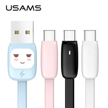 Candy Cartoon Type C Data Cable,USAMS USB C Charge Line Samsung Xiaomi Oneplus Data Sync USB Cable Fast Charge Cable type c