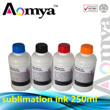 Free shiipping ! 250ml Sublimation ink for Epson printed (choose any 2 color )on umbrellas, fabrics, mobile phone cases shell