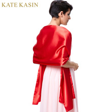 Bridal Wraps for  Wedding Party Shrug Cape Bolero Evening  Wrap Red White  Cover Shoulder Satin Bridal Shawl Scarf Free Shipping