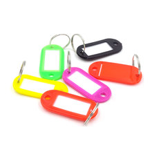 15Pcs Plastic Keychain Blanks Key Ring Diy Name Tags For Baggage Paper Insert Luggage Tags Mix Color Key Chain Accessories YSK-1(China)