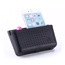1Pc Black Auto Car Storage Pouch Mobile Phone Pocket Bag Organizer Holder Accessory