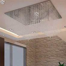 Contemporary The lobby living room lights rectangular LED crystal lamp restaurant lights lighting project Ceiling Lights(China)