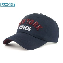 JAMONT New arrival high quality snapback cap cotton baseball cap New York Times embroidery hat for men women boy girl cap(China)