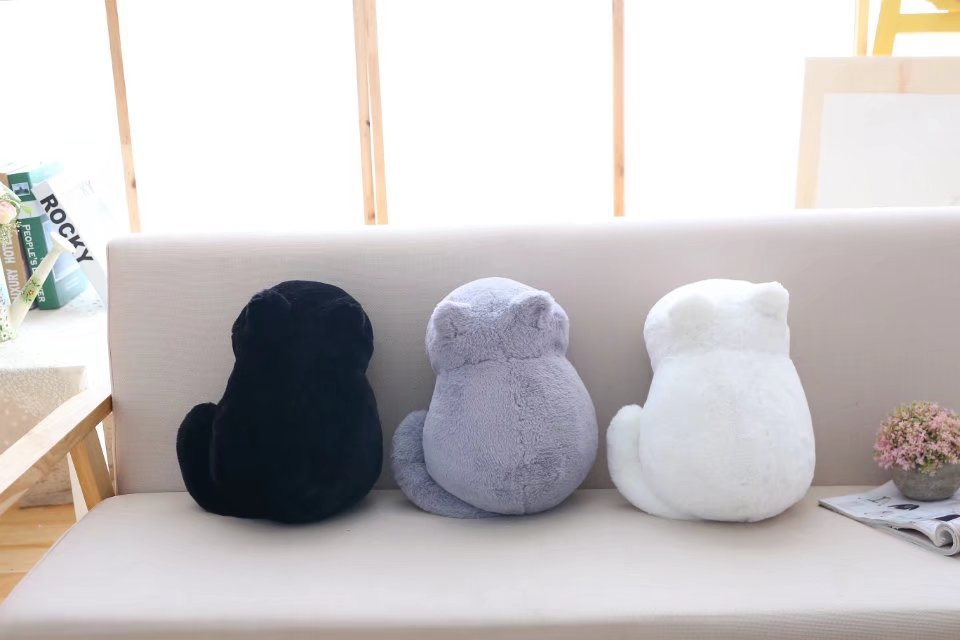 1pcs Cute Soft Cat Stuffed Pillow Lovely Kawaii Animal Plush Shadow Cat Plush Toy For Kids Gift Home Decoration (4)