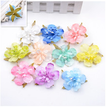 10PCS 5CM multicolor rayon cherry head wedding party gift boxes decorated wreath DIY home decoration craft artificial flowers
