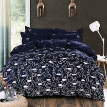 Super Cool Black And White Quilt Cover Comfortable Duver Cover Bed Sheet Bedding Set Rwin Full Queen King Size Quantity 4Pcs