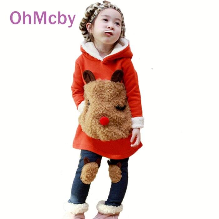 New Winter Childrens Clothing Suit Child Autumn Children Thickening Fleece Sweatshirt and Legging Kids Girls Clothes Set<br><br>Aliexpress
