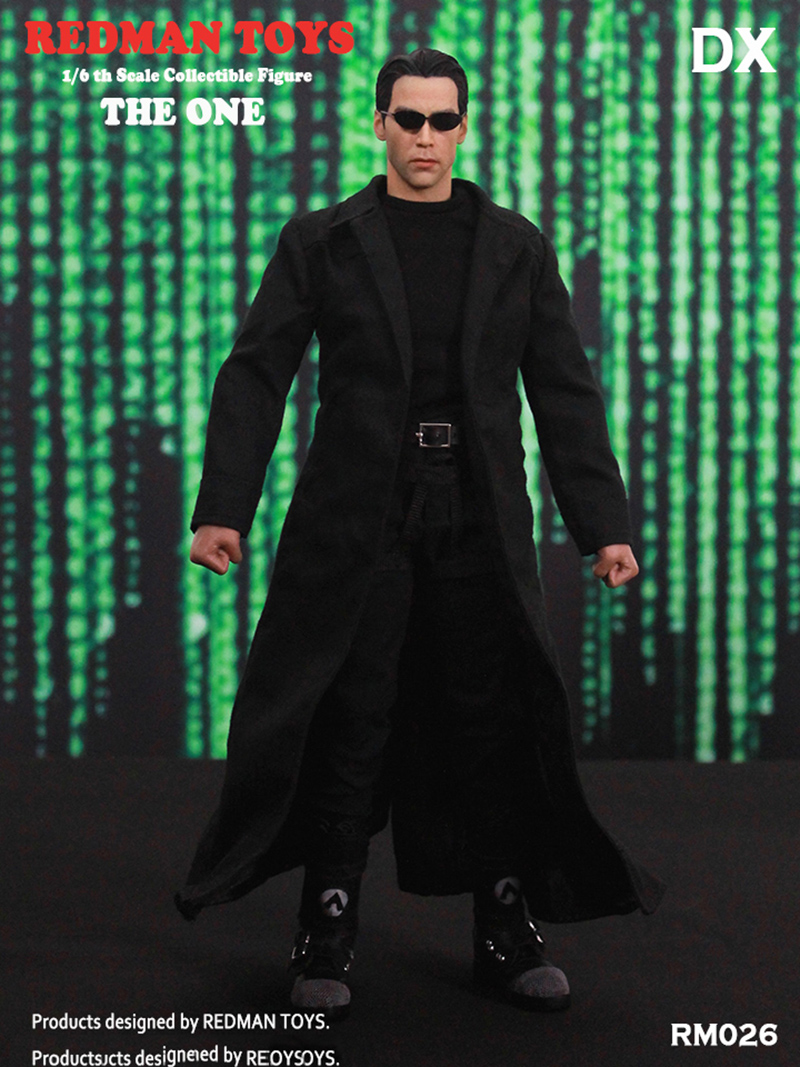 1//6 Scale The Matrix Neo Keanu Reeves Black MP5