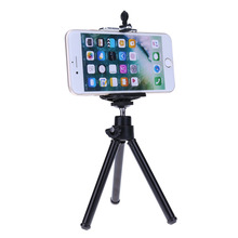 Portable Mini Black Mobile Phone Stand Holder Flexible Tripod With Cell Phone Clip for Smartphone Camera Video Hot Sale(China)