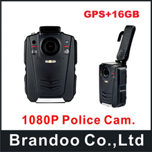 Ambarella A12 1080P HD Multi-functional Body Worn Police Camera Body Camera with built-in GPS,130 Degree Angle