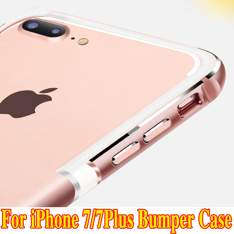 1Pcs Brand 2016 Metal Frame UltraThin Silicone Bumper Cover For iPhone7 6s Luxury Aluminum Bumper Case Apple iPhone 7 7Plus(China)