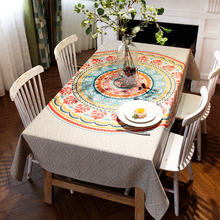 2017 Geometric Cotton Linen Tablecloth Covers for Home Decoration Outdoor American Style Table Cloth toalha de mesa nappe
