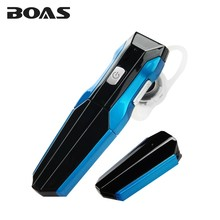 BOAS Original Removable Battery Bluetooth Earphone Business Handsfree Driving Headphone Headset with Built in Mic for Smartphone