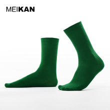 MEIKAN Men's Cotton Socks Solid Pattern Harajuku Cycling Socks Running Pilates Sport Sokken Compression Stockings Bulk Socks(China)