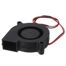 Double 12V DC 50mm Blow Radial Cooling Fan for Electronic 3D Printer sleeve bearing long life low noisy
