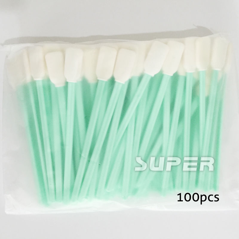 100 pcs Clean Swab for Solvent DX4 DX5 PrintHead cleaning cotton swab sticks<br><br>Aliexpress