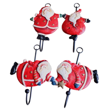 1pcs Hanger Hooks Santa's Designed Bag And Clothing Storage Hook Creative Home Storage Metal Hanger Hooks JK1318(China)