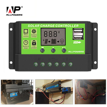 ALLPOWERS Solar Panel Controller 20A Solar Panel Intelligent Inverter with LCD Display for Flexible Solar Panel 100W 200W(China)