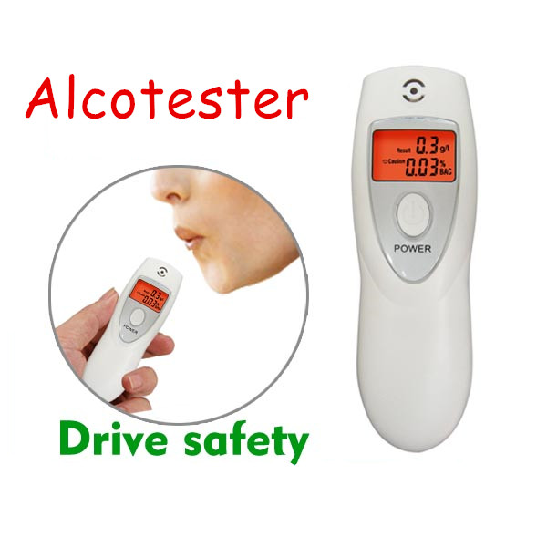 Portable LCD Backlight Alcohol Breath Analyzer Detector Breathalyzer Professional Police Digital Alcohol Breath Tester Meter(China (Mainland))