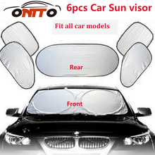 6pcs/set Car sun visor sunscreen insulation curtain block light Front/Rear shade anti UV windshield window for car all series