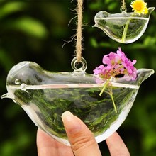 Bird Glass Vase Clear Bottle Terrarium Hydroponic Container Planter Flower DIY Wedding Garden Decor Gift Couple Gifts