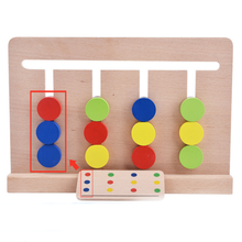 1 Set Baby Four Color Cognitive Toys for Children Early Childhood Montessori Teaching Aids Enlightenment Educational Game Gifts(China)