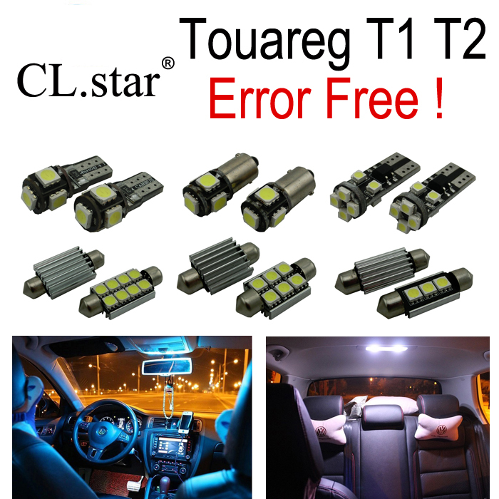 20pcs LED bulb Interior Light Kit + License plate lights for Volkswagen VW Touareg T1 T2  (2004-2009)<br>