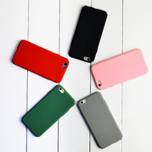 1PC Minimalist solid color Hard Back Case For iPhone 5 5S SE 6 6s 4.7 plus 5.5 PC Protective Cover Skin Shell