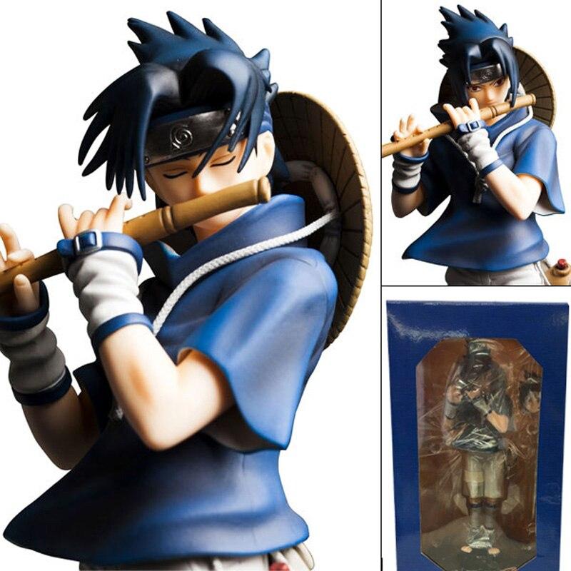 Naruto Figure Uchiha Sasuke Playing The Flute Ver Sasuke PVC Action Figures Toy Brinquedos<br>