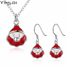 Christmas theme Santa Claus Necklace set suit accessories wholesaler 924(China)