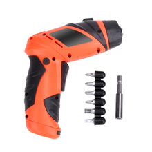 6V Portable Screwdriver Electric Drill Battery Cordless Wireless Mini Electric Screwdriver Multi-function Tool Set