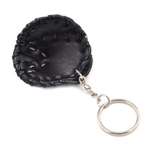 Lychee New Fashion Men Women Unisex Multi Color PU Leather Baseball Glove Mitt Key Chain Key Ring